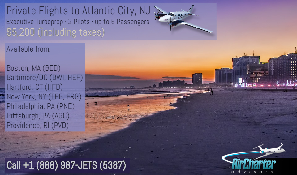 Turboprop Charter Flights Atlantic City